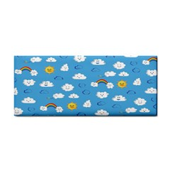 White Clouds Cosmetic Storage Cases by AnjaniArt