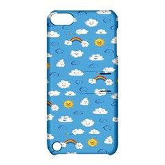 White Clouds Apple Ipod Touch 5 Hardshell Case With Stand