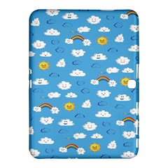 White Clouds Samsung Galaxy Tab 4 (10 1 ) Hardshell Case  by AnjaniArt