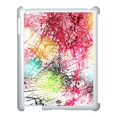Colorful Abstract Apple Ipad 3/4 Case (white) by Brittlevirginclothing