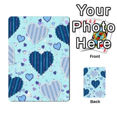 Light And Dark Blue Hearts Multi Purpose Cards (rectangle)  by LovelyDesigns4U