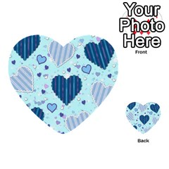 Light And Dark Blue Hearts Multi Purpose Cards (heart)  by LovelyDesigns4U