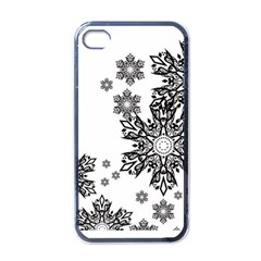 Beautiful Black And White Snowflakes  Apple Iphone 4 Case (black) by Brittlevirginclothing
