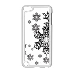 Beautiful Black Ans White Snowflakes Apple Ipod Touch 5 Case (white) by Brittlevirginclothing