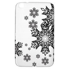 Beautiful Black Ans White Snowflakes Samsung Galaxy Tab 3 (8 ) T3100 Hardshell Case  by Brittlevirginclothing
