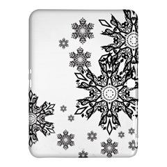 Beautiful Black Ans White Snowflakes Samsung Galaxy Tab 4 (10 1 ) Hardshell Case  by Brittlevirginclothing