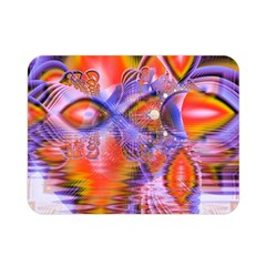 Crystal Star Dance, Abstract Purple Orange Double Sided Flano Blanket (mini)  by DianeClancy