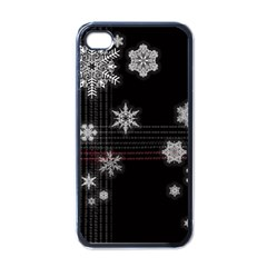 Shining Snowflakes Apple Iphone 4 Case (black) by Brittlevirginclothing