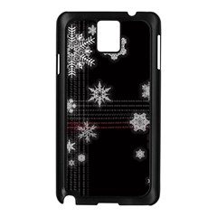 Shining Snowflakes Samsung Galaxy Note 3 N9005 Case (black) by Brittlevirginclothing