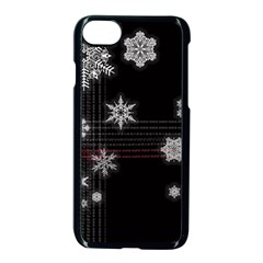 Shining Snowflakes Apple Iphone 7 Seamless Case (black) by Brittlevirginclothing