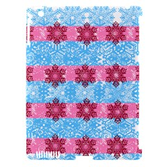 Pink Snowflakes Pattern Apple Ipad 3/4 Hardshell Case (compatible With Smart Cover) by Brittlevirginclothing