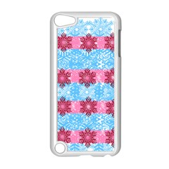 Pink Snowflakes Pattern Apple Ipod Touch 5 Case (white) by Brittlevirginclothing