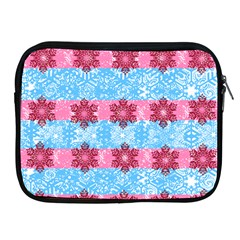 Pink Snowflakes Pattern Apple Ipad 2/3/4 Zipper Cases by Brittlevirginclothing