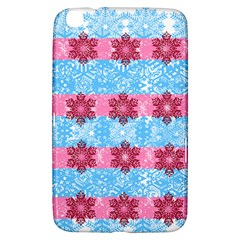 Pink Snowflakes Pattern Samsung Galaxy Tab 3 (8 ) T3100 Hardshell Case  by Brittlevirginclothing
