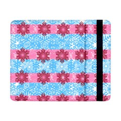 Pink Snowflakes Pattern Samsung Galaxy Tab Pro 8 4  Flip Case by Brittlevirginclothing