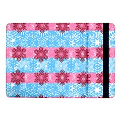 Pink Snowflakes Pattern Samsung Galaxy Tab Pro 10 1  Flip Case by Brittlevirginclothing