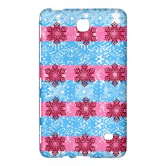 Pink Snowflakes Pattern Samsung Galaxy Tab 4 (7 ) Hardshell Case  by Brittlevirginclothing
