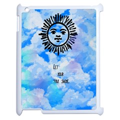 Let Your Sun Shine  Apple Ipad 2 Case (white) by Brittlevirginclothing