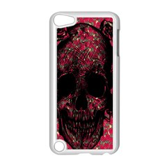 Vintage Pink Flowered Skull Pattern  Apple Ipod Touch 5 Case (white) by Brittlevirginclothing