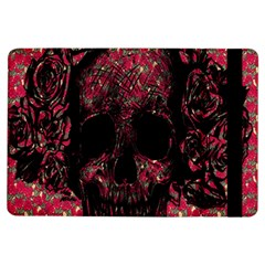 Vintage Pink Flowered Skull Pattern  Ipad Air Flip by Brittlevirginclothing