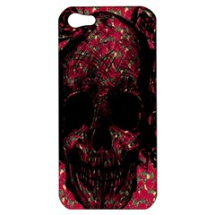 Vintage Pink Flowered Skull Pattern  Apple Iphone 5 Hardshell Case by Brittlevirginclothing