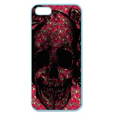 Vintage Pink Flowered Skull Pattern  Apple Seamless Iphone 5 Case (color) by Brittlevirginclothing