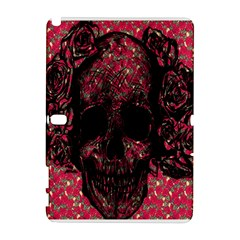 Vintage Pink Flowered Skull Pattern  Galaxy Note 1 by Brittlevirginclothing