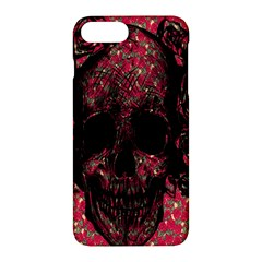 Vintage Pink Flowered Skull Pattern  Apple Iphone 7 Plus Hardshell Case by Brittlevirginclothing