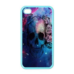 Colorful Space Skull Pattern Apple Iphone 4 Case (color) by Brittlevirginclothing