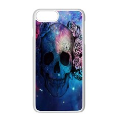Colorful Space Skull Pattern Apple Iphone 7 Plus White Seamless Case by Brittlevirginclothing