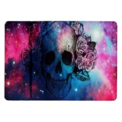 Colorful Space Skull Pattern Samsung Galaxy Tab 10 1  P7500 Flip Case by Brittlevirginclothing
