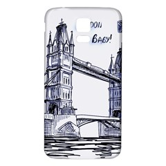 Lovely London Baby  Samsung Galaxy S5 Back Case (white) by Brittlevirginclothing