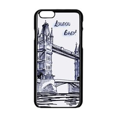 Lovely London Baby  Apple Iphone 6/6s Black Enamel Case by Brittlevirginclothing