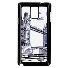 Lovely London Baby  Samsung Galaxy Note 4 Case (black) by Brittlevirginclothing