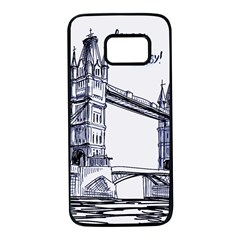 Lovely London Baby  Samsung Galaxy S7 Black Seamless Case