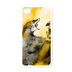 Wild Wolf Apple Iphone 4 Case (white) by Brittlevirginclothing