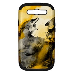 Wild Wolf Samsung Galaxy S Iii Hardshell Case (pc+silicone) by Brittlevirginclothing