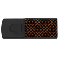 Scales1 Black Marble & Brown Marble Usb Flash Drive Rectangular (4 Gb) by trendistuff