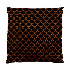 Scales1 Black Marble & Brown Marble Standard Cushion Case (two Sides) by trendistuff