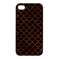 Scales1 Black Marble & Brown Marble Apple Iphone 4/4s Premium Hardshell Case by trendistuff
