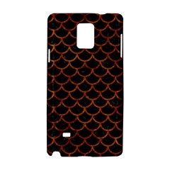 Scales1 Black Marble & Brown Marble Samsung Galaxy Note 4 Hardshell Case