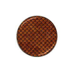 Scales1 Black Marble & Brown Marble (r) Hat Clip Ball Marker (4 Pack) by trendistuff