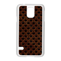 Scales2 Black Marble & Brown Marble Samsung Galaxy S5 Case (white) by trendistuff