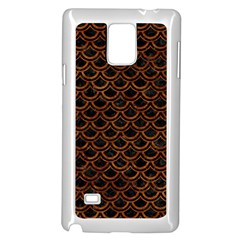 Scales2 Black Marble & Brown Marble Samsung Galaxy Note 4 Case (white) by trendistuff