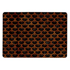 Scales3 Black Marble & Brown Marble Samsung Galaxy Tab 10 1  P7500 Flip Case by trendistuff
