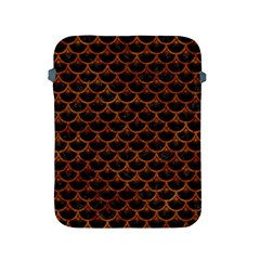 Scales3 Black Marble & Brown Marble Apple Ipad 2/3/4 Protective Soft Case by trendistuff