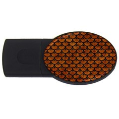 Scales3 Black Marble & Brown Marble (r) Usb Flash Drive Oval (2 Gb) by trendistuff