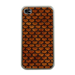 Scales3 Black Marble & Brown Marble (r) Apple Iphone 4 Case (clear)