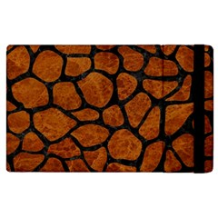 Skin1 Black Marble & Brown Marble Apple Ipad 2 Flip Case by trendistuff