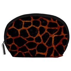Skin1 Black Marble & Brown Marble (r) Accessory Pouch (large) by trendistuff